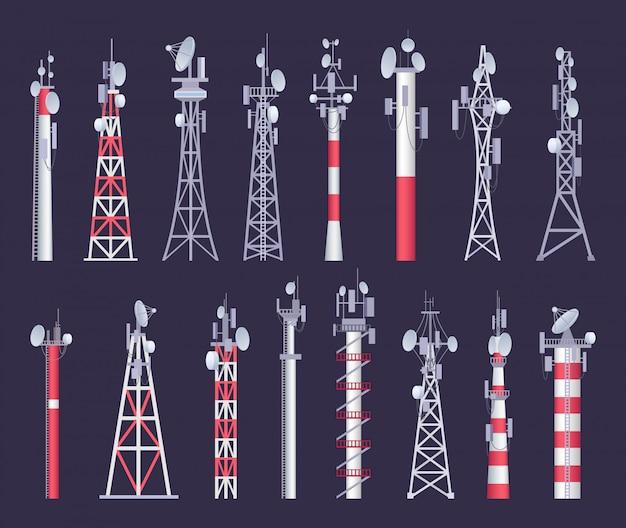 Wireless tower set