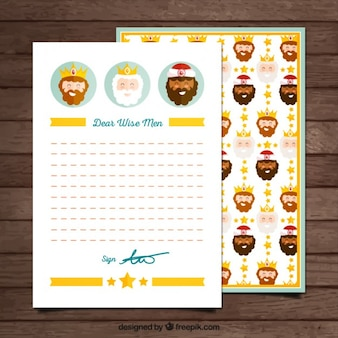 Wise men card template