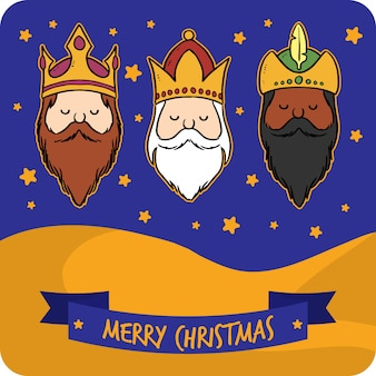 The wise men greeting card