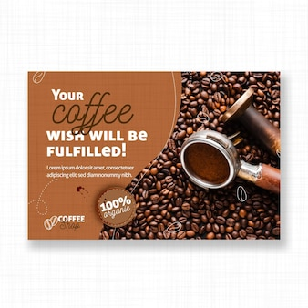 Wish of a coffee banner template