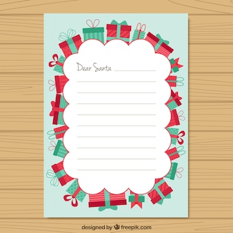 Wish list with gifts border