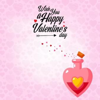 Желаю вам счастливого дня влюбленных с розовым фоном