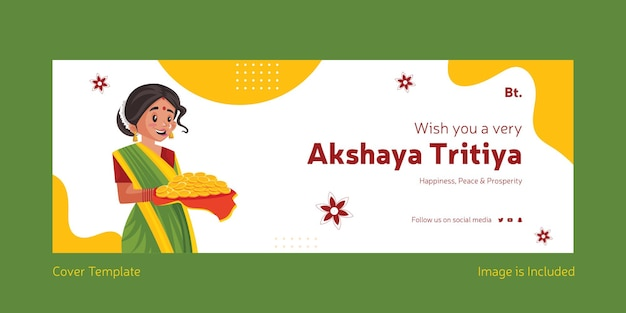 Wish you a very happy akshaya tritiya cover design