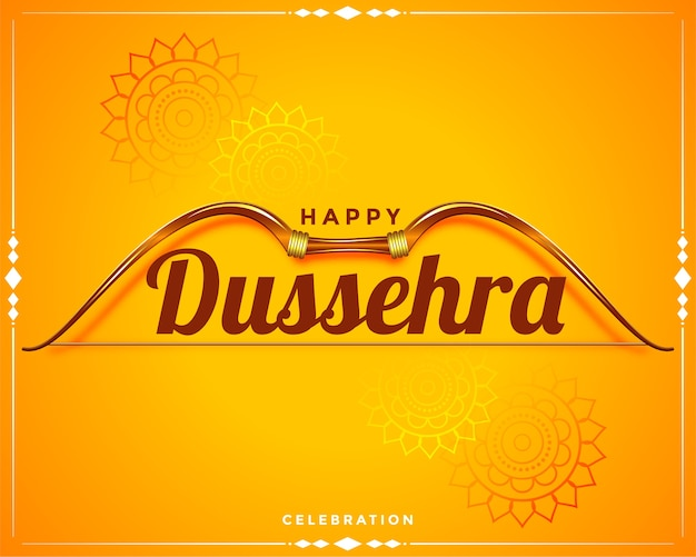Wishes card design for happy dussehra festival greeting