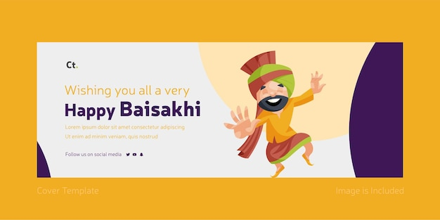 모두에게 매우 행복한 baisakhi facebook 표지 디자인을 기원합니다
