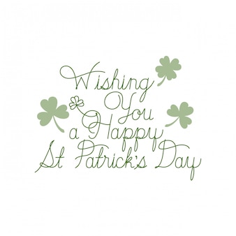 Wishing you a happy st patrick`s day label icons