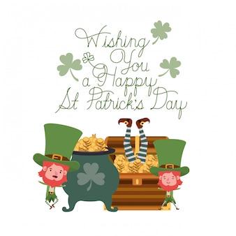 Wishing you a happy st patricks day label