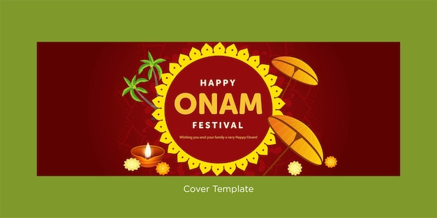 Wishing you a very happy onam festival cover page design