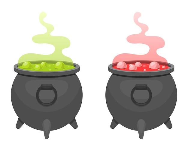 Witch cauldron  design illustration isolated on white background