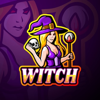 Witch esport logo mascot