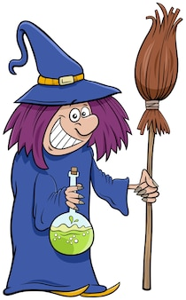 Witch halloween character cartoon illustration