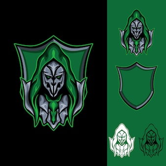 The witch mask : logo e-sport gaming