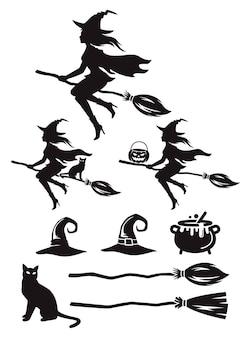 Ведьма силуэт