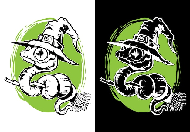 Ведьма змея хэллоуин