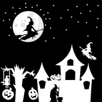 Witch theme background for halloween
