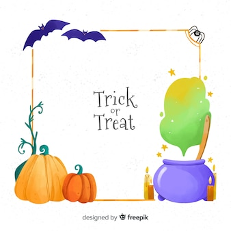 Witchcraft halloween decoration frame
