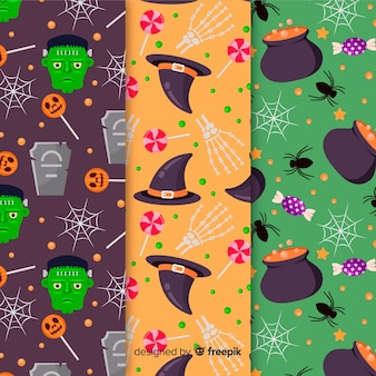 Witchcraft seamless pattern collection