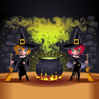 Witches background design