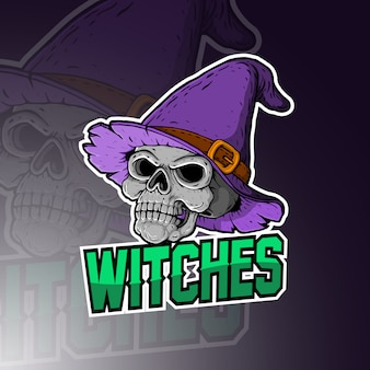 Witches esport mascot logo