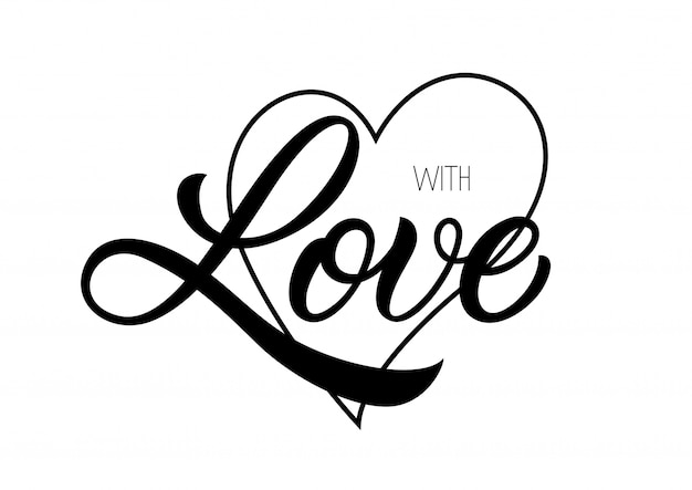 With love lettering