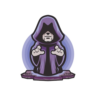 Wizard cartoon logo