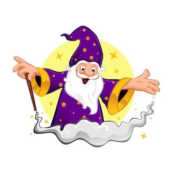 Wizard cute mascot design