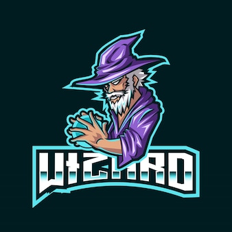 Wizard esport logo template