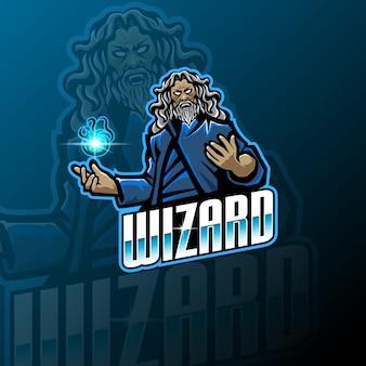 Wizard esport mascot logo template