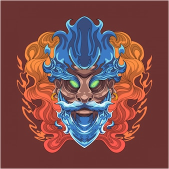 Wizard esport талисман логотип