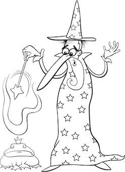Волшебная страница мультфильма фантазии