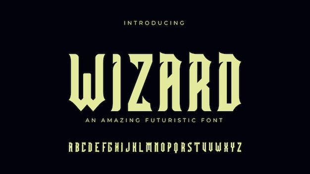 Wizard futuristic 폰트