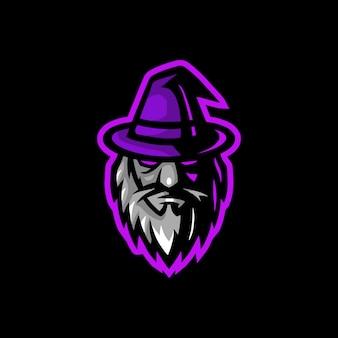 Волшебная голова талисмана логотип