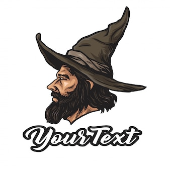 Wizard logo cartoon character design