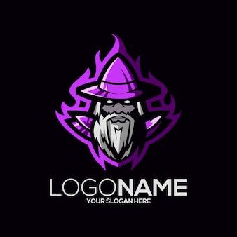 마법사 로고 디자인