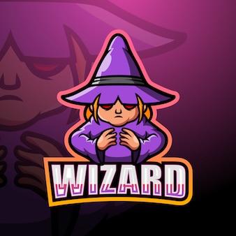 Wizard mascot esport illustration