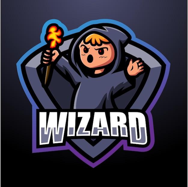 Мастер талисман киберспорт дизайн логотипа