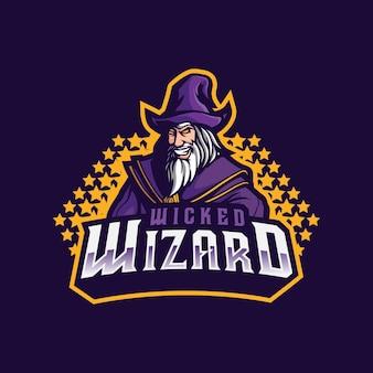 마법사 마스코트 로고 디자인