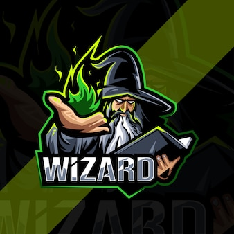 Wizard mascot logo esport design