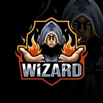 Wizard mascot logo template design
