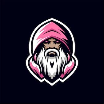 마법사 마스코트 로고