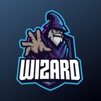 Wizard mascot for sports and esports logo