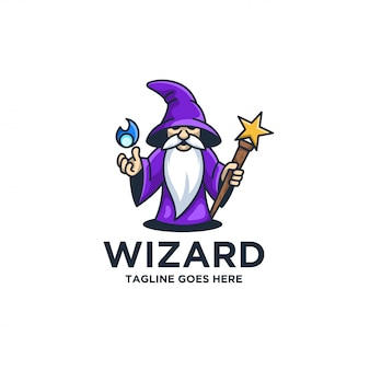 Wizard pose cute illustration .