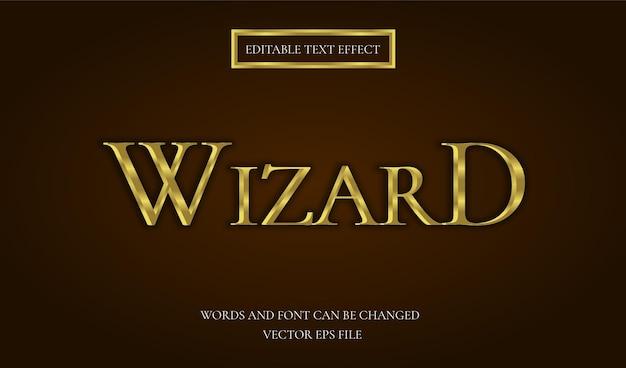 Wizard text effect