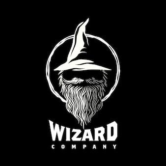 Волшебник чернокнижник дизайн логотипа вдохновение