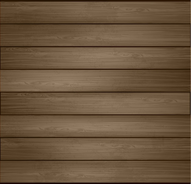 Wo illustration wooden background