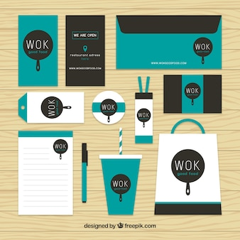 Wok stationery set