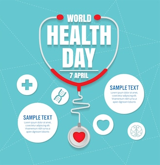 Wold health day vector design