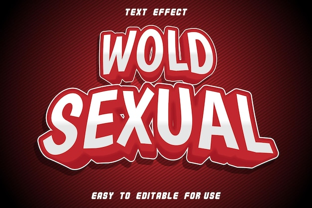 Wold sexual editable text effect emboss modern style