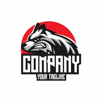 Wolf angry logo vector