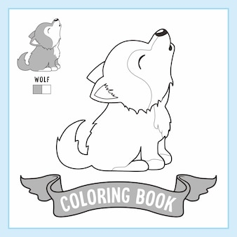 Wolf animals coloring pages book coyote dog